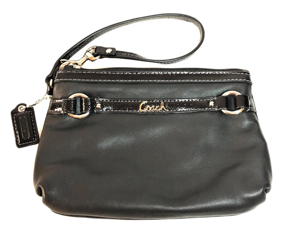 Coach Black Leather Wristlet | Gently Used |