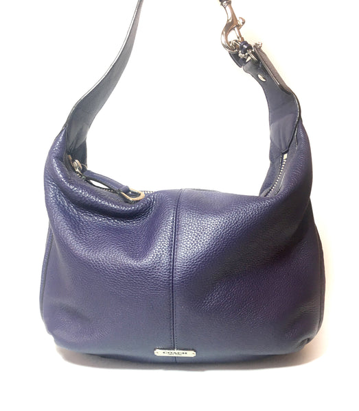Coach Purple Pebbled Leather Shoulder Bag | Gently Used |