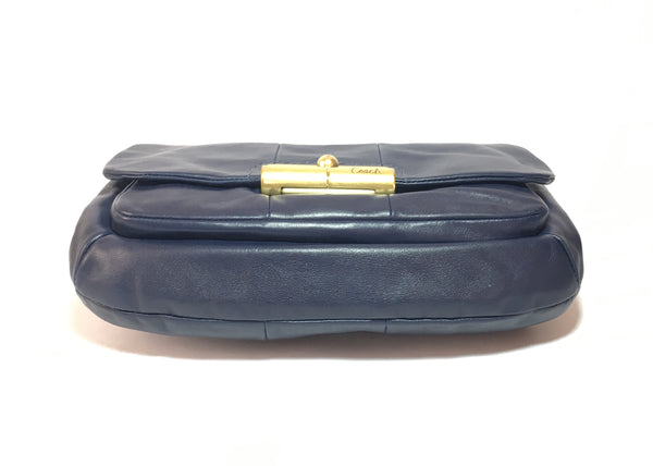 Coach Navy Blue Leather Shoulder Bag | Pre Loved | - Secret Stash