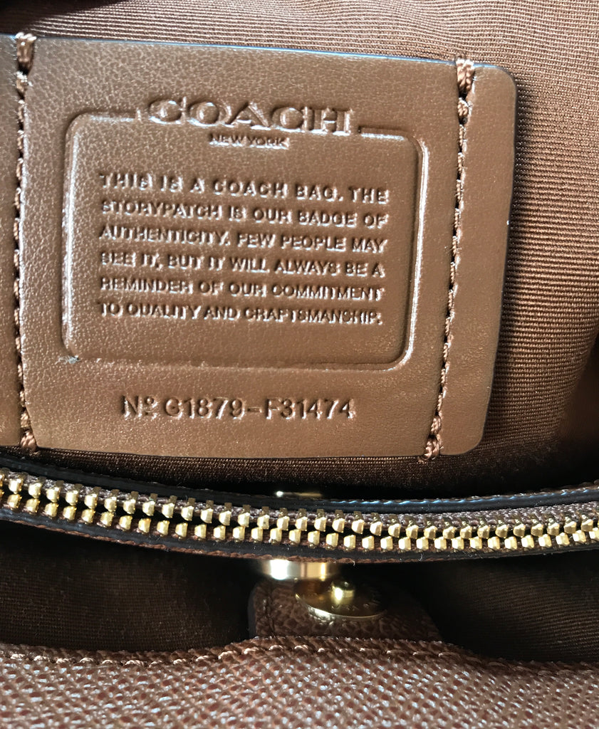 Coach Brown Textured Leather 'Casey' Tote | Brand New | - Secret Stash
