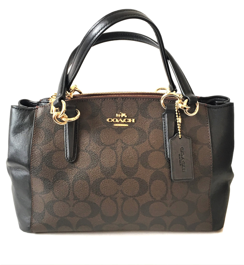 Coach Monogram Canvas with Leather Trim Shoulder Bag | Gently Used | - Secret Stash