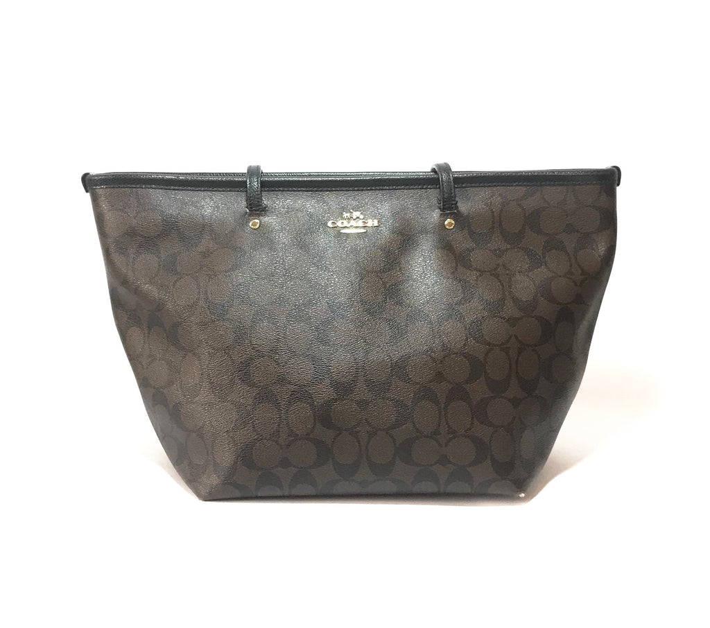 Coach Signature Monogram Canvas Tote | Pre Loved | - Secret Stash