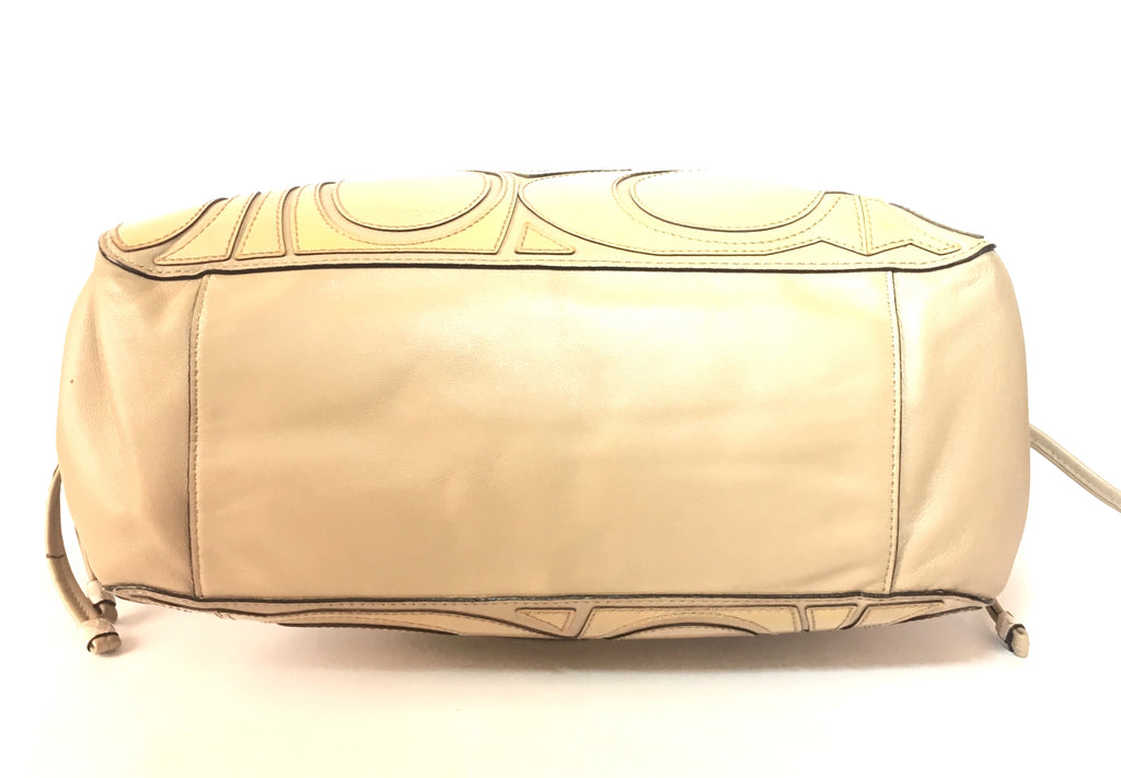 Coach Beige Leather Shoulder Bag | Pre Loved | - Secret Stash