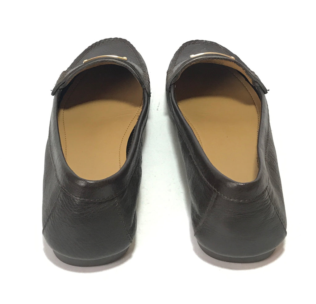 Coach 'Fredrica' Dark Brown Leather Loafers | Pre Loved |