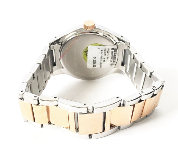 Coach Rose Gold & Silver Stainless Steel Rhinestone Bracelet Watch | Brand New |