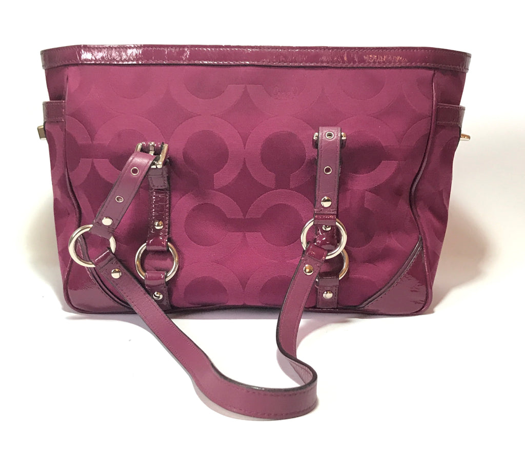 Coach Signature Collection Deep Purple Monogram Tote Bag | Pre Loved |