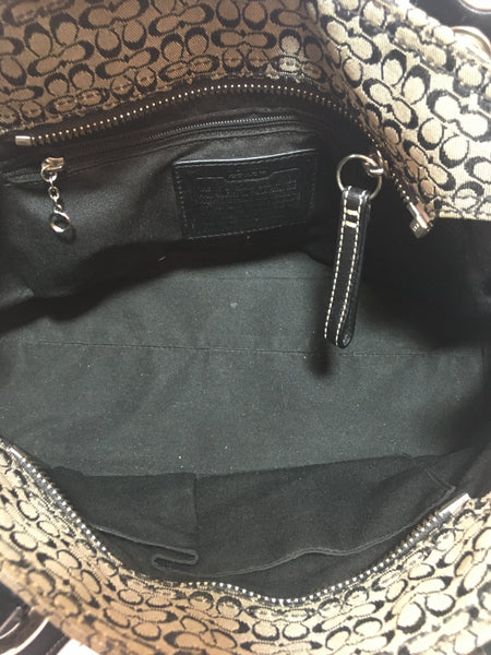 Coach Black & Grey Signature Collection Shoulder Bag | Gently Used |
