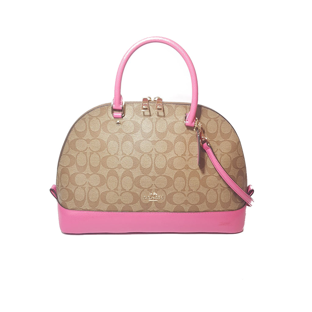 Coach Monogram with Pink Trim Signature Tote | Gently Used |