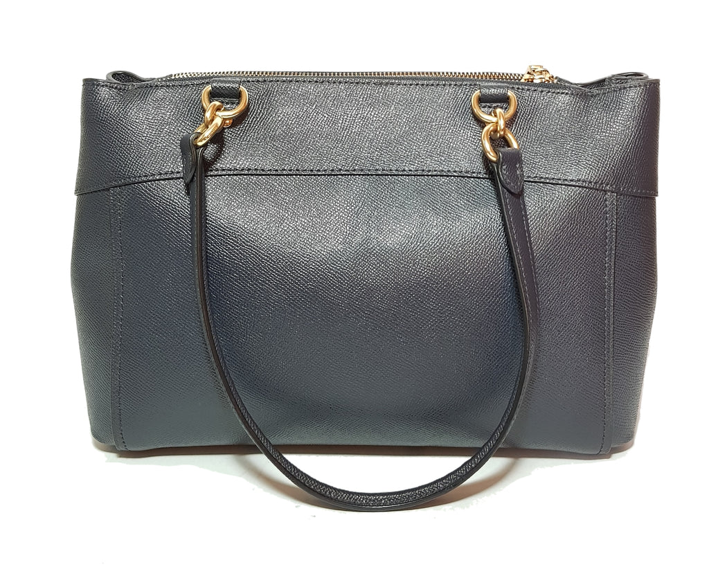 Coach Navy Pebbled Leather Satchel | Pre Loved |
