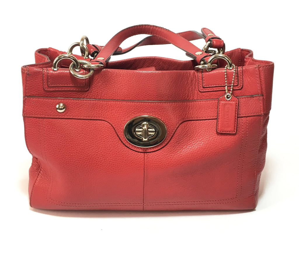 Coach Red Leather Tote Bag | Pre Loved | - Secret Stash