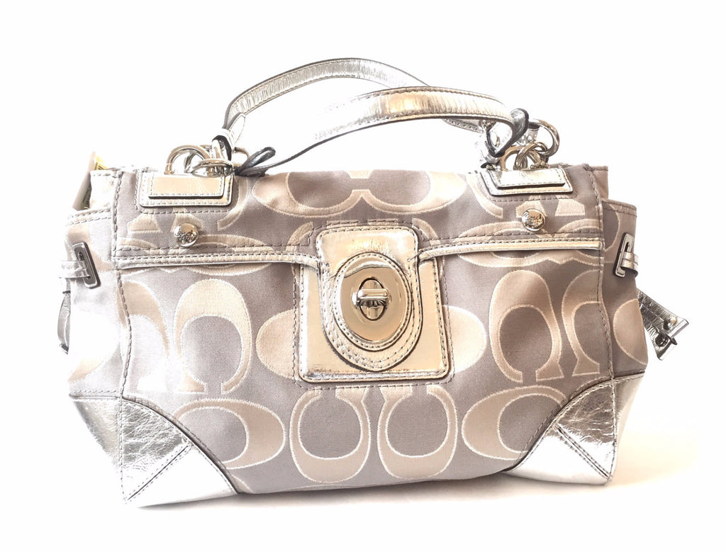 Coach Signature Peyton Sateen Metallic Bag | Brand New with Tag | - Secret Stash