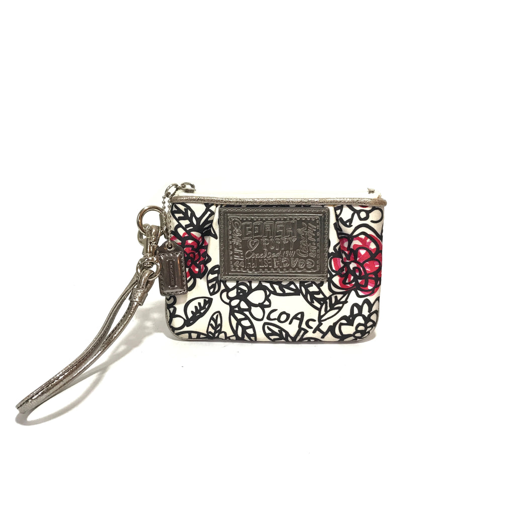 Coach Floral Printed Mini Wristlet | Gently Used |