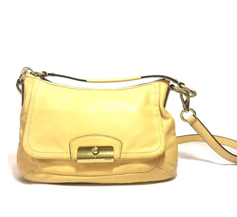 Coach Yellow Leather Shoulder Bag | Pre Loved |
