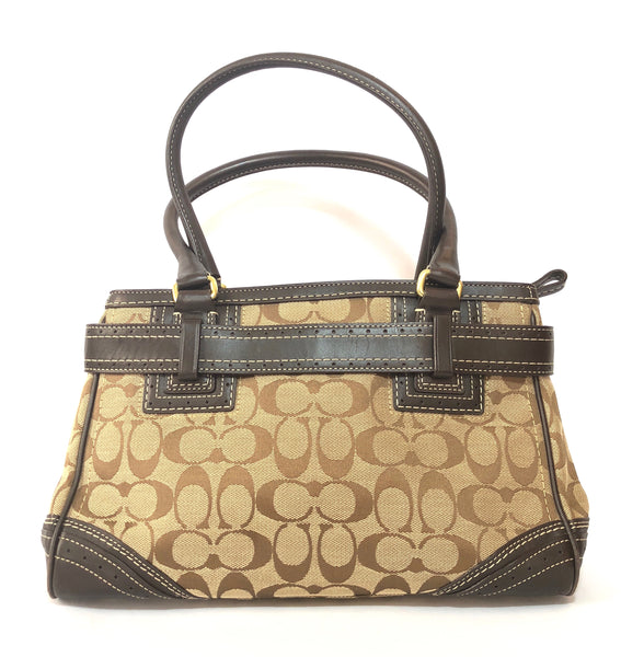 Coach Monogram Canvas with Leather Trim Tote Bag | Pre Loved |