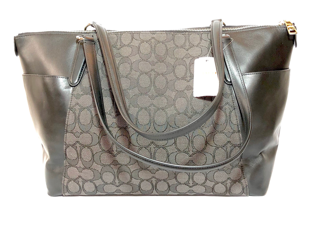 Coach Signature Collection Black & Grey Tote Bag | Brand New | - Secret Stash