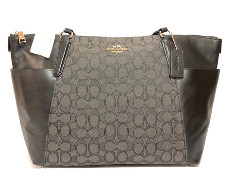 Coach Signature Collection Black & Grey Tote Bag | Brand New |
