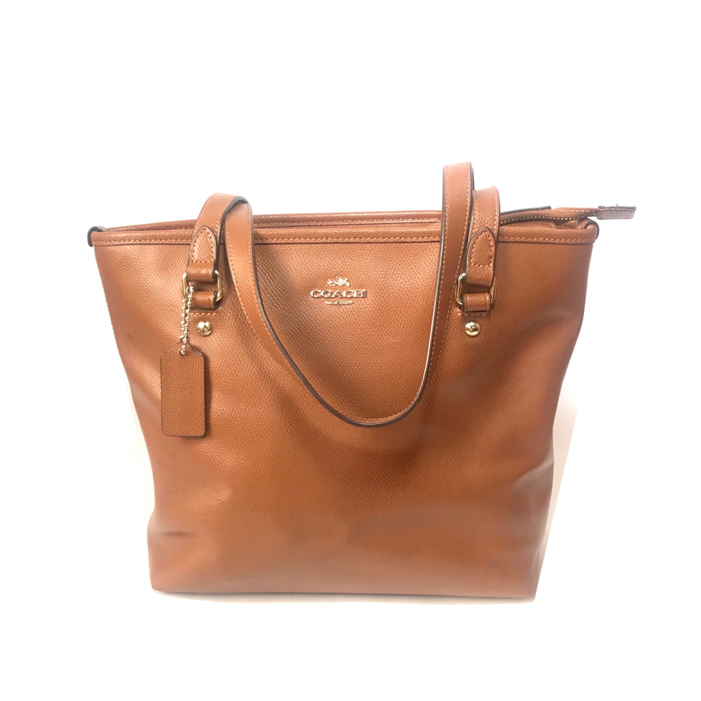 Coach Tan Pebbled Leather Tote Bag | Pre Loved |