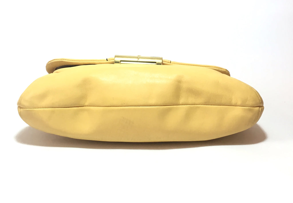 Coach Yellow Leather Shoulder Bag | Pre Loved | - Secret Stash