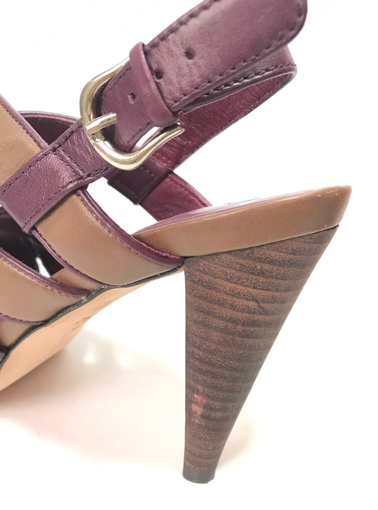Cole Haan Brown Multi Strap Heels | Like New |
