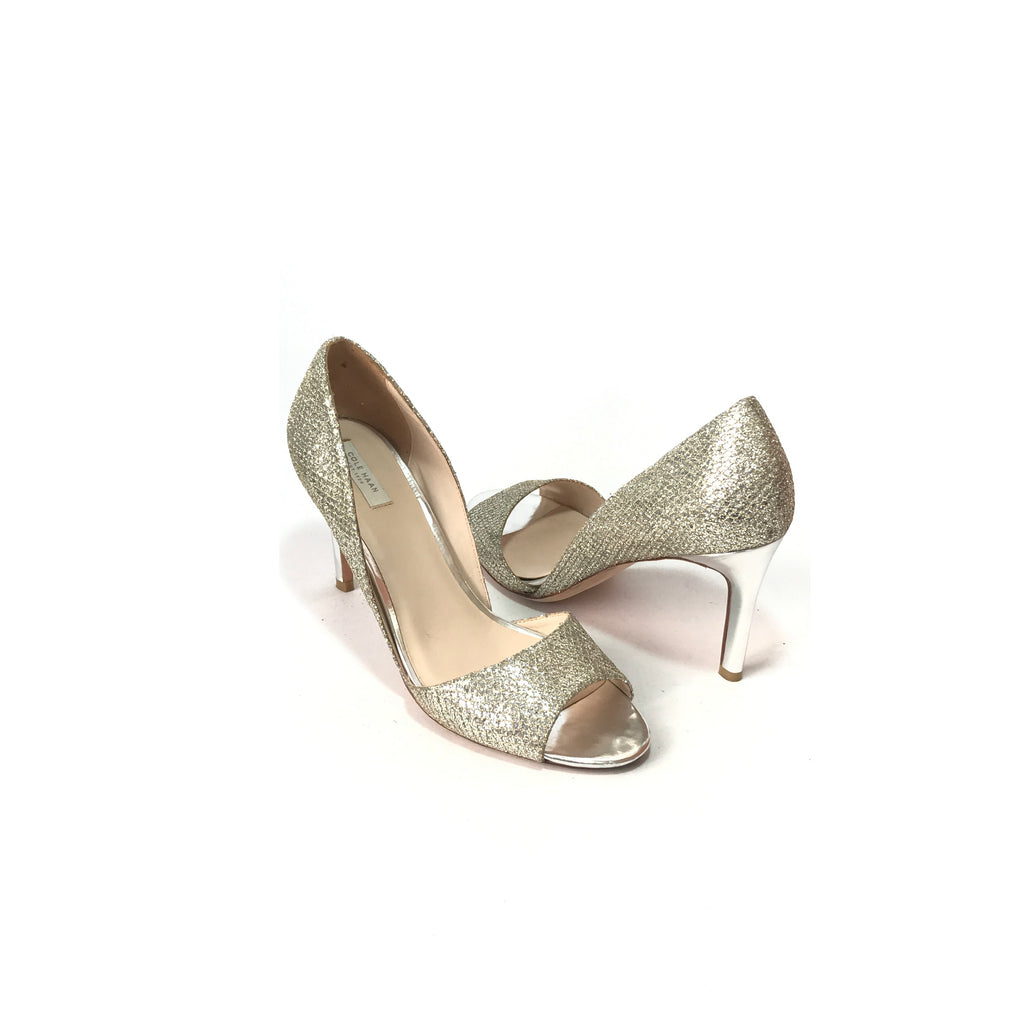 Cole Haan Gold & Silver Glitter Heels | Gently Used |