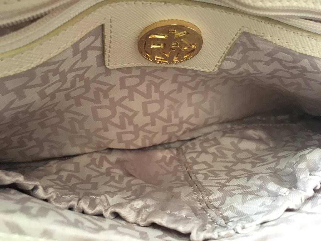 DKNY Beige Leather Shoulder Bag | Pre Loved | - Secret Stash