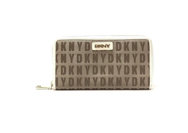 DKNY Monogram Canvas Continental Wallet | Pre Loved |