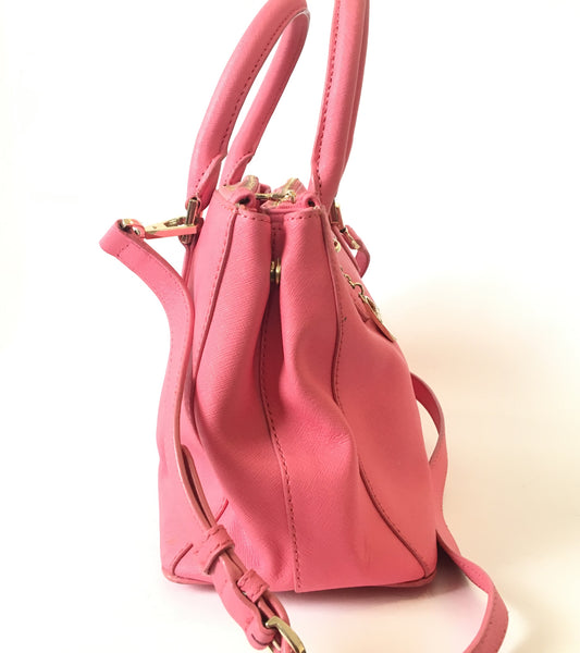 DKNY Pink Leather Tote Bag | Pre Loved |