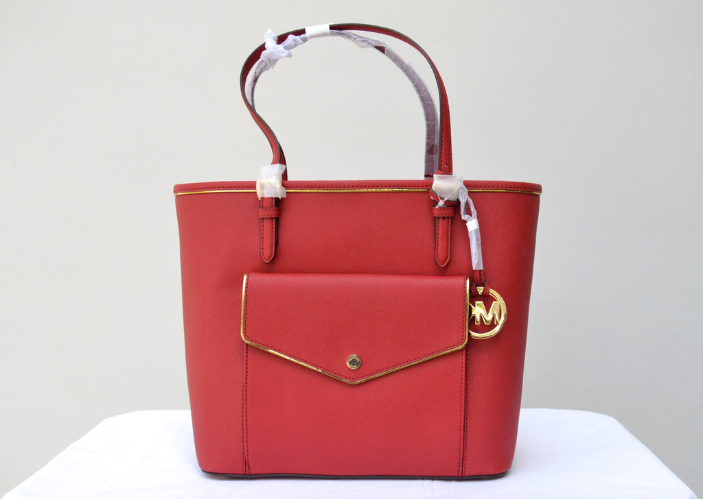 Michael Kors Specchio Large Red Tote Bag | Brand New | - Secret Stash