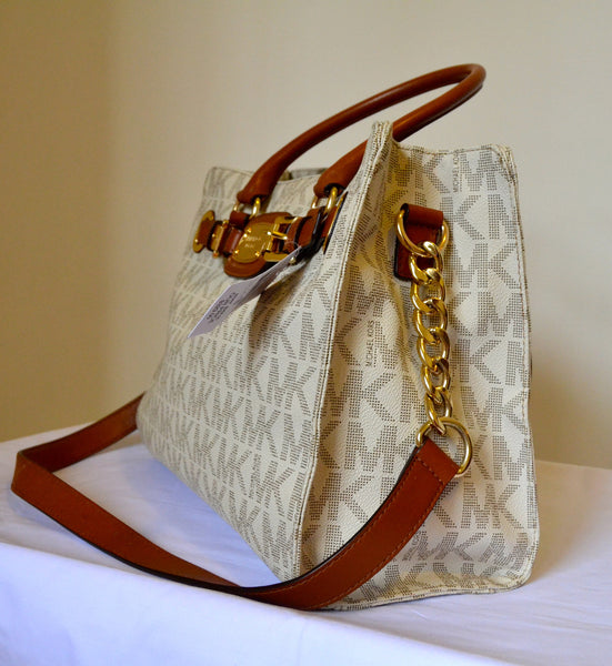Michael Kors Vanilla Hamilton Tote Large | Brand New | - Secret Stash