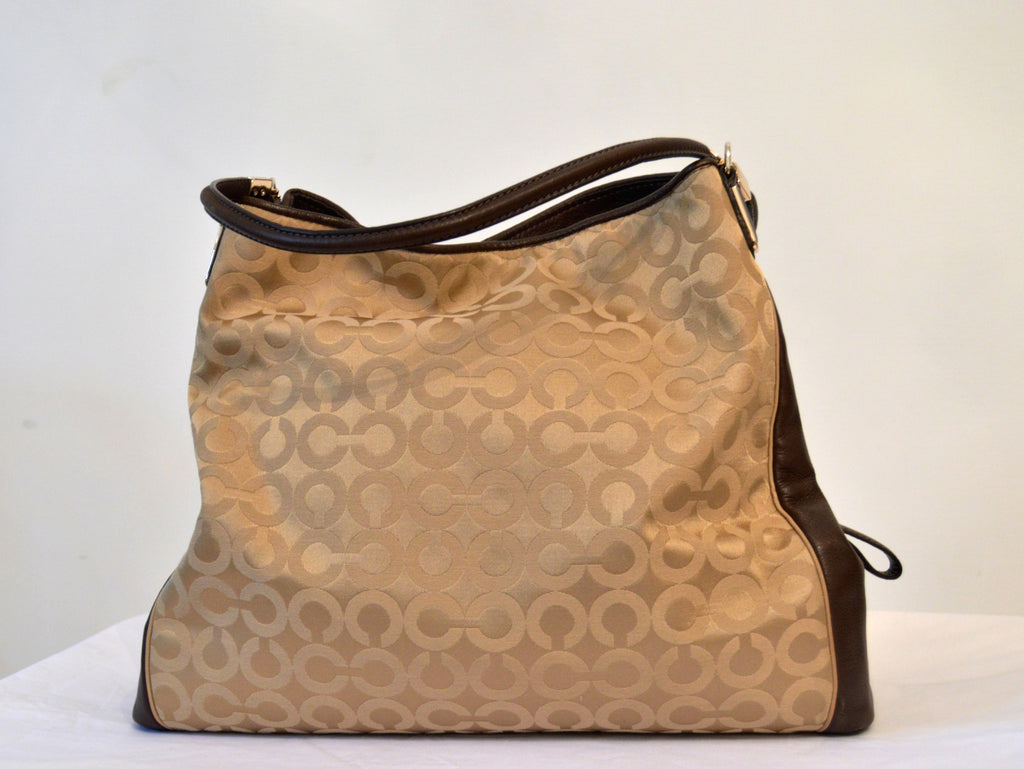 Coach Canvas & Leather Tote Bag | Gently Used | - Secret Stash