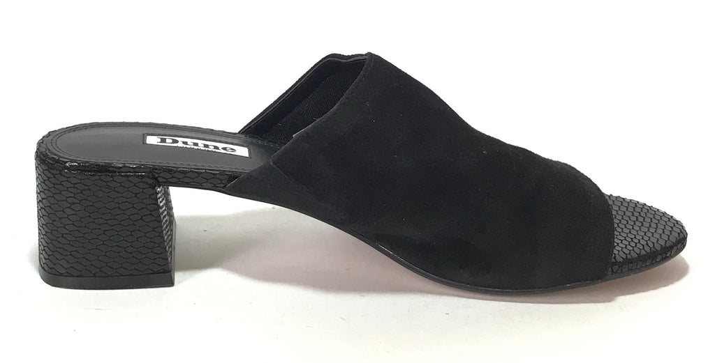 DUNE Black Suede MOSCO Mule Heels | Gently Used |