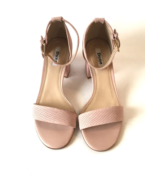 DUNE Blush-Reptile 'Jay Go' Block Heels | Gently Used |
