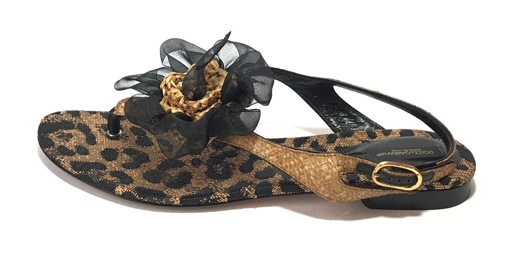 Dolce & Gabbana Floral Animal Print Sandals | Gently Used |