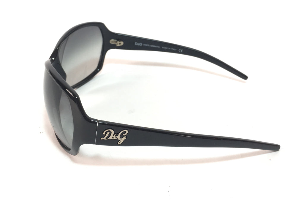 Dolce & Gabbana D&G8018 Black Rectangular Sunglasses | Pre Loved |
