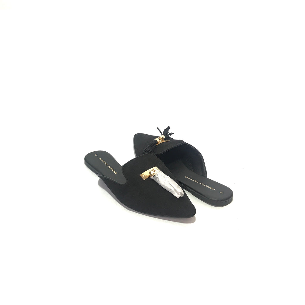 Dorothy Perkins Black Suede Pointed Mules | Brand New |