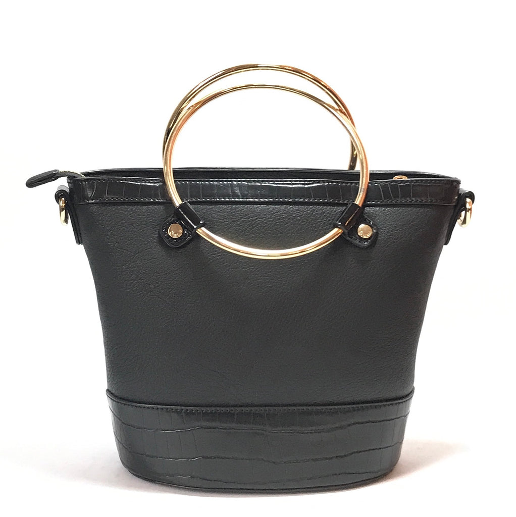 Dune Black Bucket Bracelet Bag | Like New |