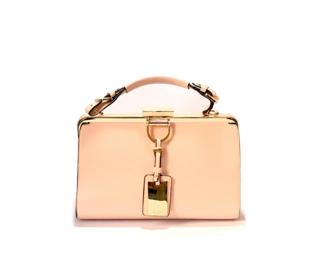 Dune Blush Pink Metal Trim Tote | Gently Used |