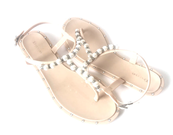 DUNE Pearl & Crystal Jelly Thong Sandals | Pre Loved |