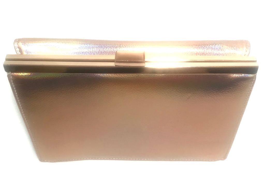 Head Over Heels by Dune Rose Gold Leatherette Clutch | Like New |