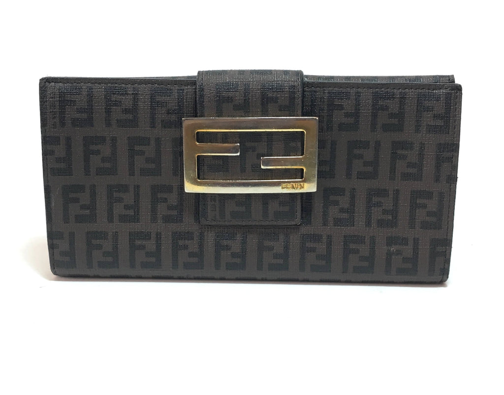 Fendi Brown Monogram Canvas Envelope Wallet | Pre Loved |