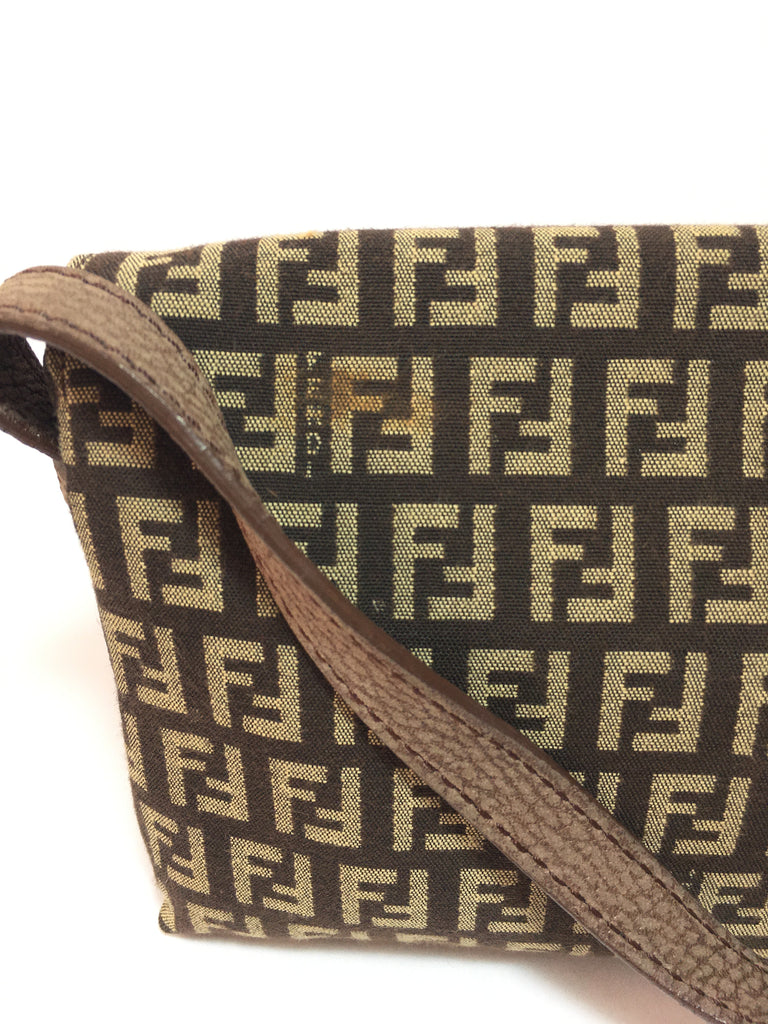 Fendi Monogram Zucca Small Shoulder Bag | Pre Loved |