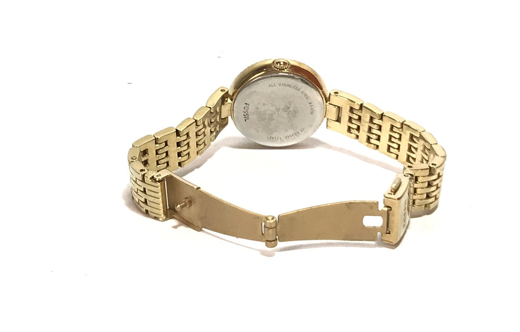 Fossil Gold Rhinestone Stainless Steel Watch | Like New |