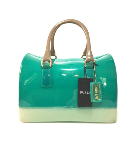 Furla Green and White 'Candy Bag' | Gently Used |