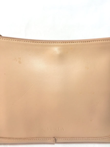 Furla Nude Blush Pink Leather Shoulder Bag | Pre Loved |