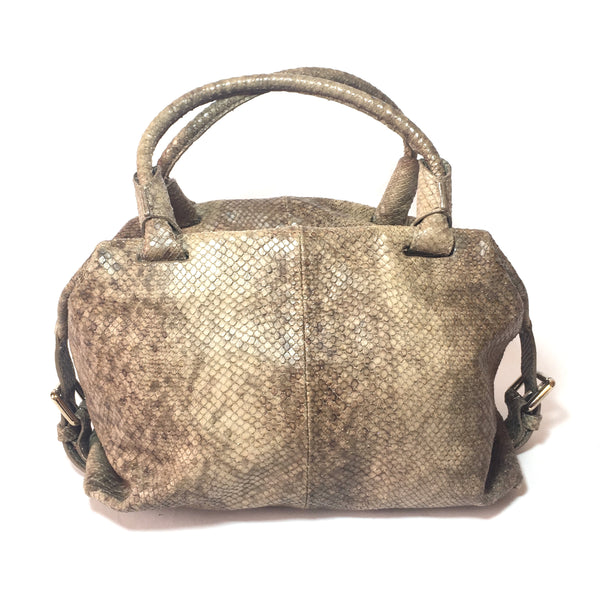Furla Snakeskin Brown & Grey Tote | Pre Loved |