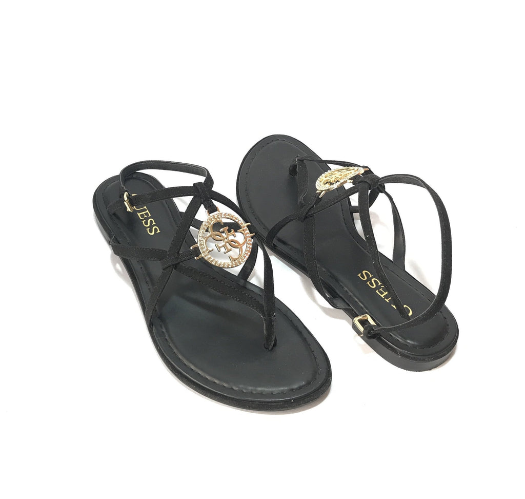 GUESS Black Rhinestone Flats | Gently Used |