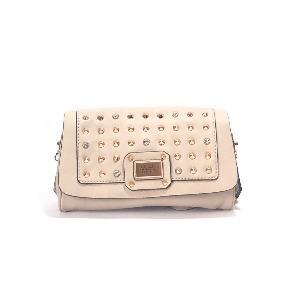 GUESS Rhinestone Beige Shoulder Bag | Like New |
