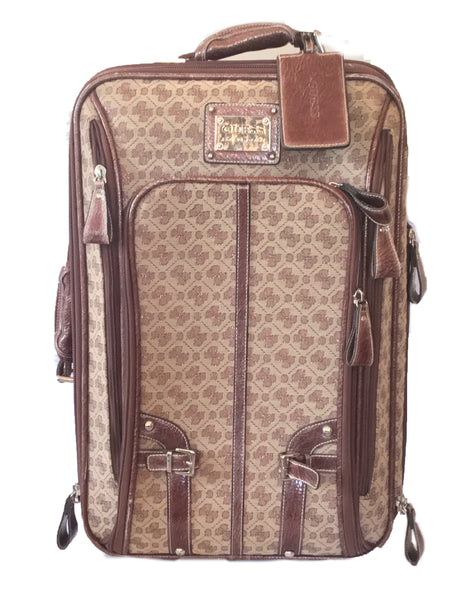 Guess Monogram Carryon Suitcase | Pre Loved |