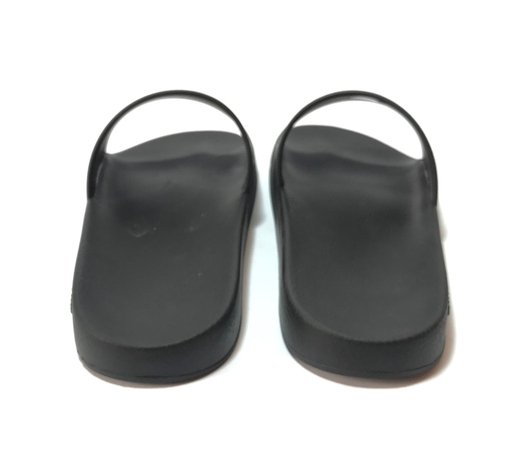Givenchy Black Logo Rubber Slides | Gently Used |