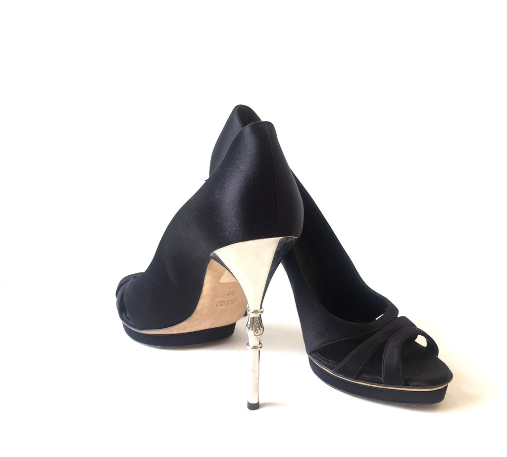 "Gucci 'Raso Seta Nero 600"" Heels 